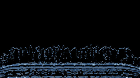 Linear Liquid Splash all along the bottom of the picture with a black background 版權商用圖片