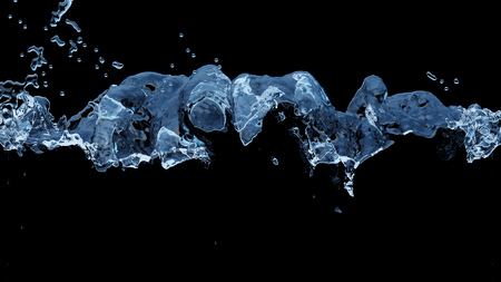 Large Liquid Bubbling all along the middle of the picture with a black background