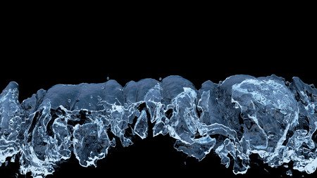 Large Liquid boiling all along the bottom of the picture with a black background