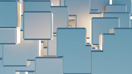 Many Big Light Blue Cubes filling all the screen Banco de Imagens - 123335155