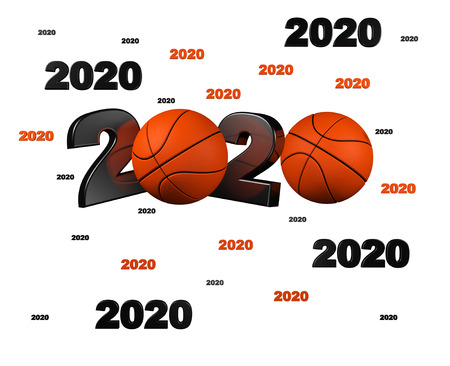Many Basketball 2020 Designs with a White Background