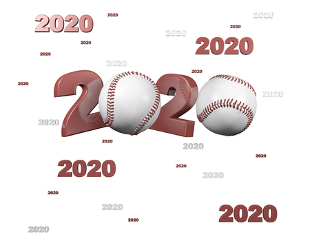 Many Baseball 2020 Designs with a White Background