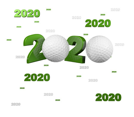 Many Golf 2020 Designs with a White Background
