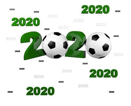 Many Football 2020 Designs with a White Background
