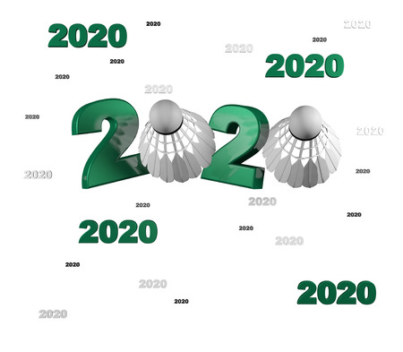Many Badminton 2020 Designs with a White Background