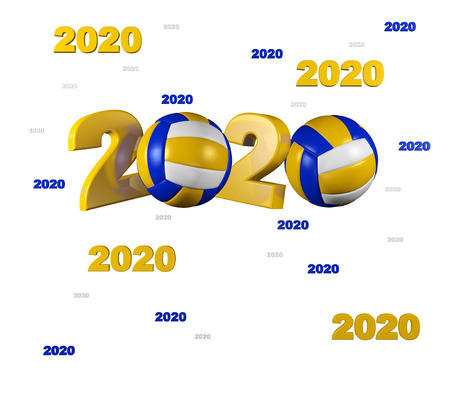 Many Beach Volleyball 2020 Designs with a White Background