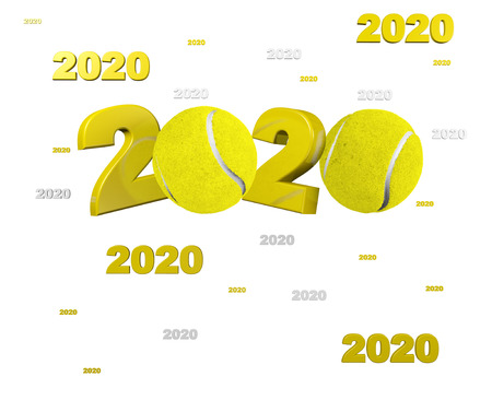 Many Tennis ball 2020 Designs with a White Background