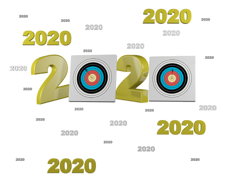 Many Archery 2020 Designs with a White Background