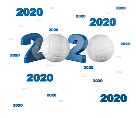 Many Volleyball 2020 Designs with a White Background