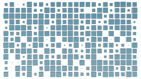 Grid pattern with lots of light blue Cubes with a white background Banco de Imagens - 123549173