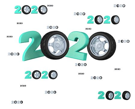 Many Sport Wheel 2020 Designs with many Wheels on a White Background Stock Photo