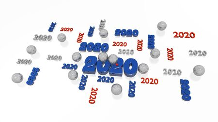 Several Petanque 2020 Designs with Some Boules on a White Background Фото со стока