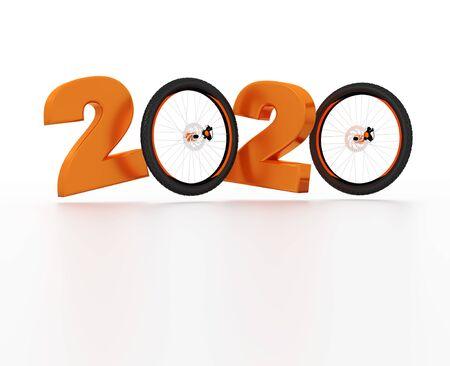 Mountain Bike wheel 2020 Design with a White Background