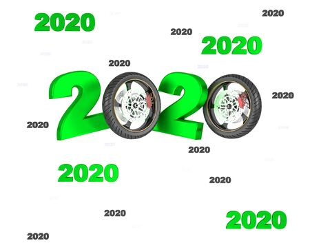Many Moto Wheel 2020 Designs with a White Background