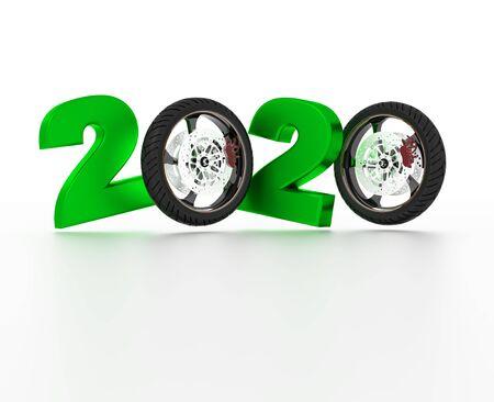 Motorbike sport wheel 2020 Design with a White Background