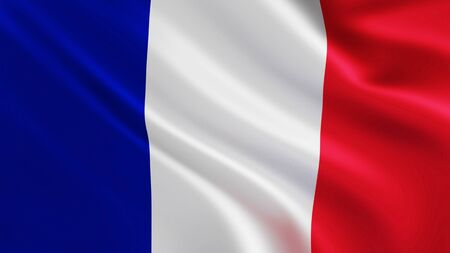 Large shiny and Bright Blue White and Red French Flag