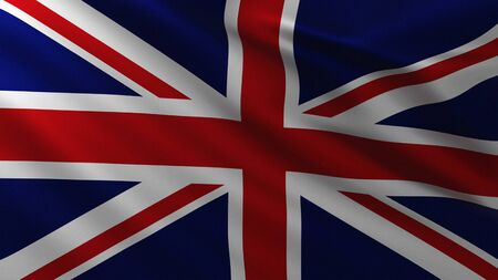 Large British Flag in the wind background