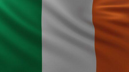 Large Irish Flag in the wind background