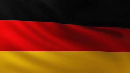 Large German Flag in the wind background