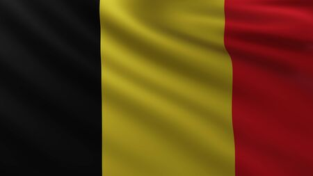 Large Belgian Flag in the wind background Imagens