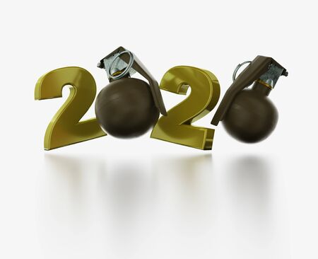Military Hand Grenade 2020 Title with a White Background