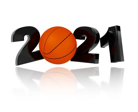 Basketball 2021 Design with a White Background
