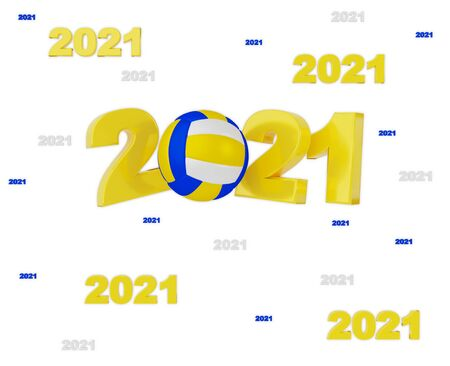 Many Beach Volleyball 2021 Designs with a White Background