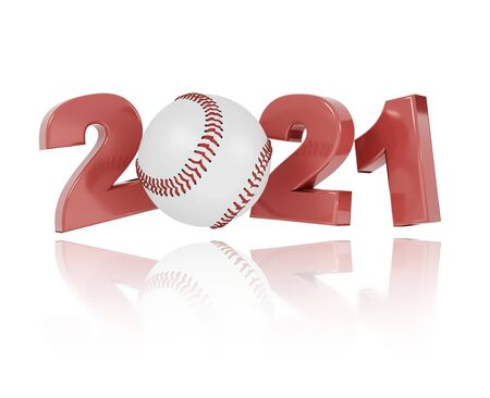 Baseball 2021 Design with a White Background