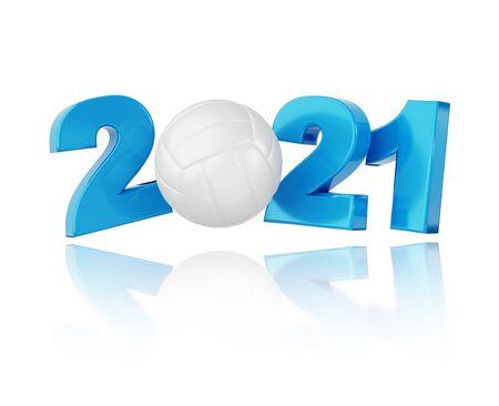 Volleyball 2021 Design with a White Background Reklamní fotografie