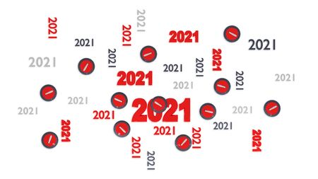 Top View of Several Curling 2021 Designs with Some Stones on a White Background