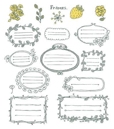 hand-drawn frames.