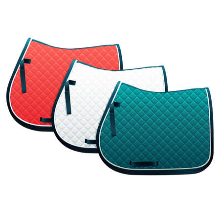 Vector clip art illustration of saddle pads, the essential piece of horseback riding