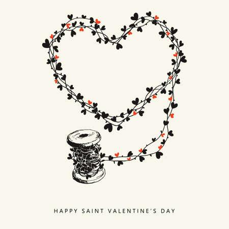 saint valentine s day: Happy Saint Valentine s Day hand drawn card
