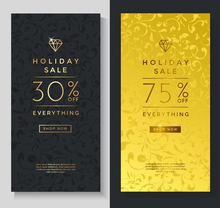 luxury template: Luxury style gift voucher template design