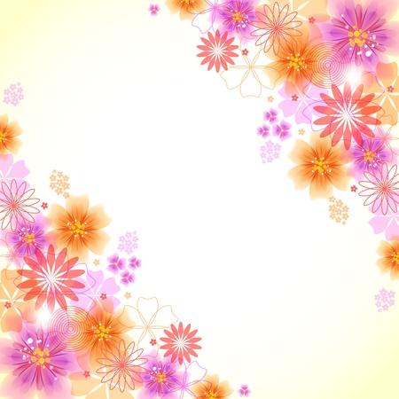 florescence: Colorful floral background with space to your text