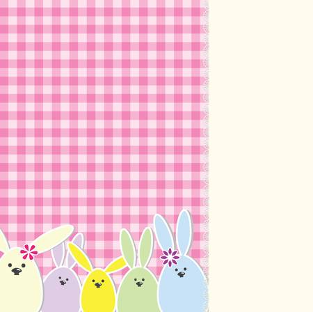 Easter bunny greeting card Vector