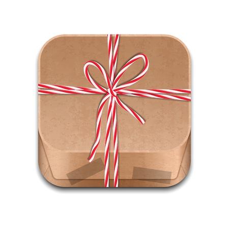 ios: Ic�ne du paquet de papier attach� avec des cordes