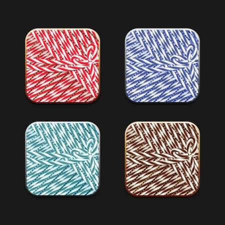 ios: Collection d'ic�nes de ficelle stile pour votre application