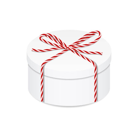 present box: Present box with red twine bow for your design Illustration