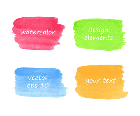 ounce: Collection of watercolor stains for your design