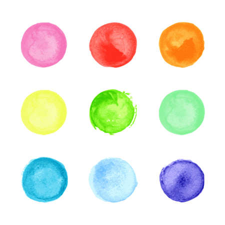 ounce: Collection of multicolored watercolor circles for your design