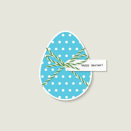 tied up: Greeting card with easter egg tied up with bakers twine