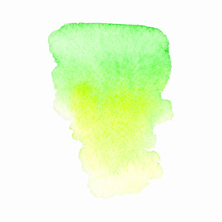 ounce: Watercolor green yellow stain on white background