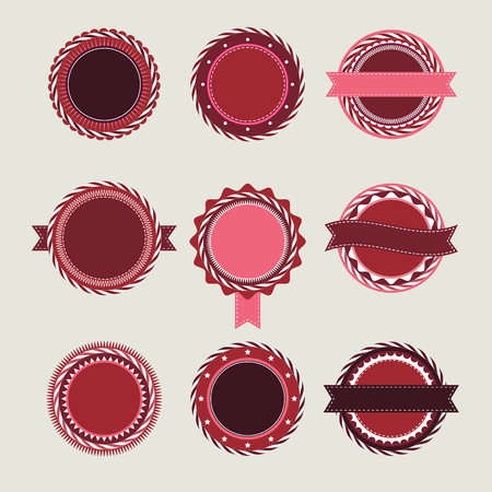bordo: Collection of wine vintage badges and labels templates