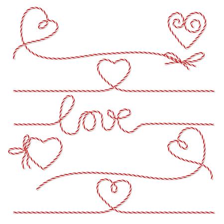 흰색 배경에 빨간색 베이커 꼬기 로맨틱 활과 리본 컬렉션