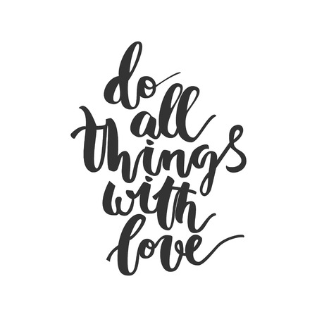 urge: Motivational hand drawn inscription about doing things on white background