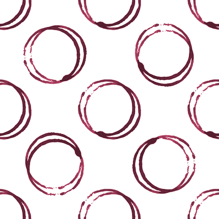 wine stains: Wine stains seamless pattern on white background