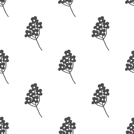 vealy: Hand drawn black and white floral seamless pattern