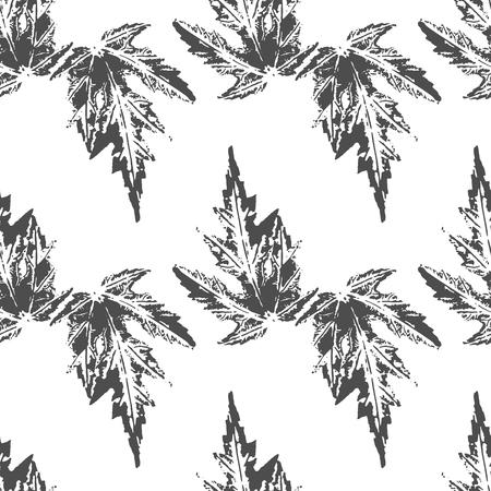 érable noir laisse des empreintes seamless sur fond blanc Vecteurs