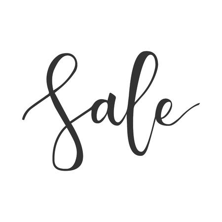 Sale black hand written inscription isolated on white background Illustration